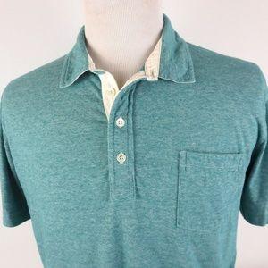 Billy Reid XL Slim Fit S/S Polo Shirt Micro Stripe